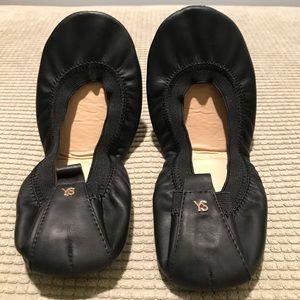 Yosi Samra black leather ballet flats (size 6)